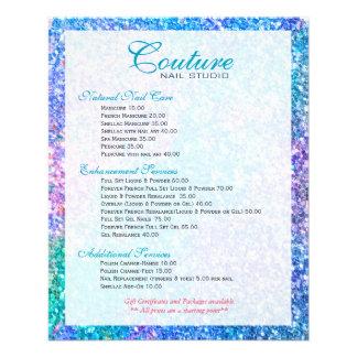 Lista colorida do menu do brilho do brilho