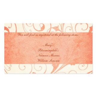Lista de presentes C do convite do casamento do me Modelos Cartões De Visitas