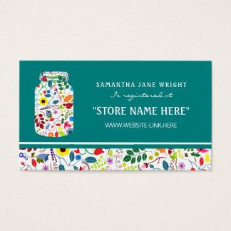 Lista de presentes floral do chá de fraldas do cartão de visitas