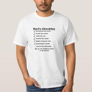 Lista de verificação de Karls Camisetas