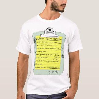 Lista de verificação do despedida de solteiro camiseta