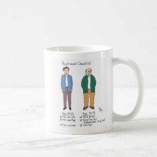 lista de verificação do namorado caneca de café
