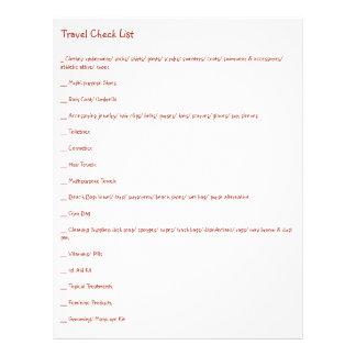 Lista de verificação final do viagem para cada flyer