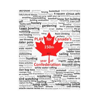 Lista do jogo de Canadá 150th em canvas