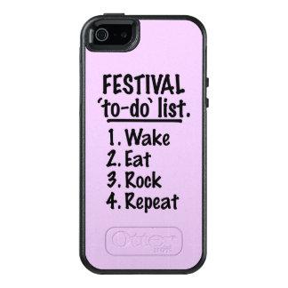 Lista do tumulto do ` do festival' (preto)