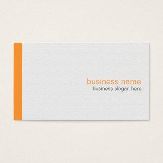 Listra alaranjada simples moderna elegante lisa no cartão de visitas