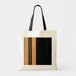 Listra amarela do preto bolsa para compras