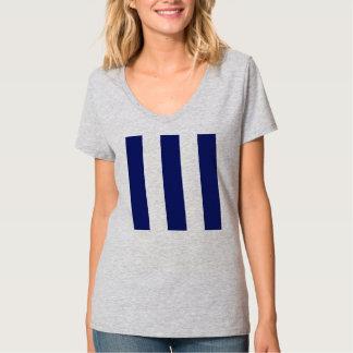 Listra azul corajosa grande tshirt