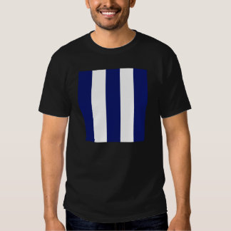 Listra azul corajosa grande tshirts