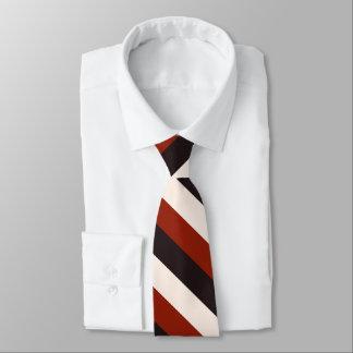 Listra branca preta vermelha ocasional do poder gravata