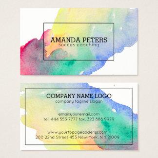 Listra colorida moderna da escova da noiva cartão de visitas