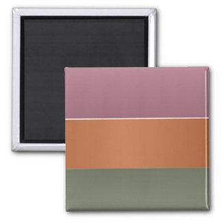 Listra da cor do revestimento de três metais - ímã quadrado