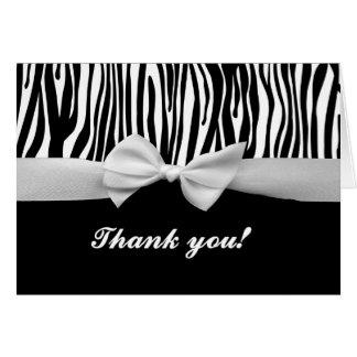 Listra da zebra & cartões de agradecimentos