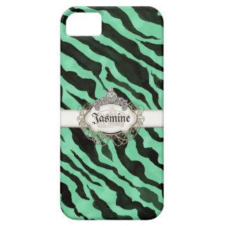 Listra da zebra de IPad coroa animal da jóia do Capa Barely There Para iPhone 5