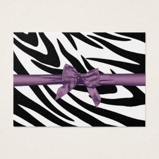 Listra da zebra e cartão roxo do assento da fita