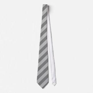 Listra dobro cinzenta gravata