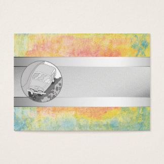 Listra engraçada do carro e da prata na textura cartão de visitas