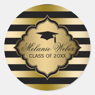 Listra-Graduações do preto & do ouro Adesivo