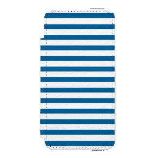 Listra horizontal azul e branca