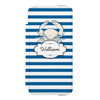 Listra horizontal azul e branca personalizada
