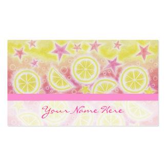 Listra horizontal do cartão de visita cor-de-rosa