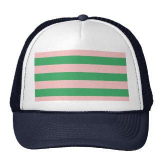 Listra horizontal | do rosa & do verde algum boné