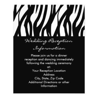 Listra modernista preto e branco panfletos personalizados