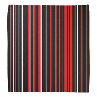 Listra preta, vermelha, e branca do código de bandana