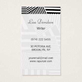 Listra preto e branco clássica cartão de visitas
