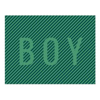 Listra verde modelada (é a) cartão do MENINO