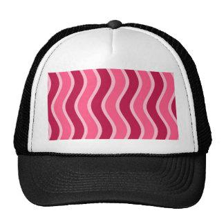 Listrado cor-de-rosa de Swirly Bonés