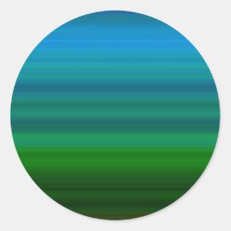 Listrado misture dentro o azul e o verde adesivo