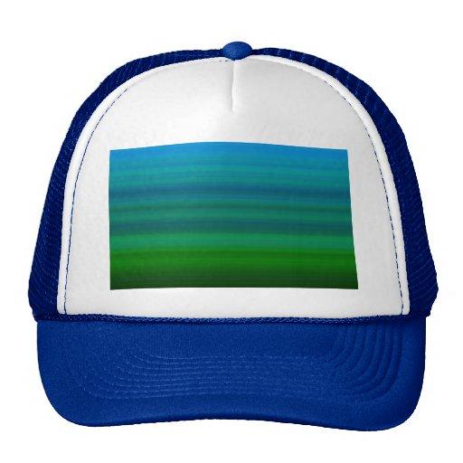 Listrado misture dentro o azul e o verde boné