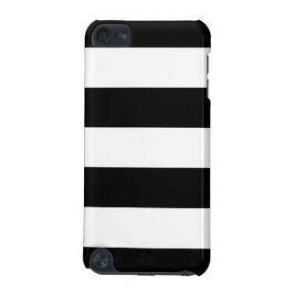 Listrado preto e branco - caso do ipod touch 5g capa para iPod touch 5G