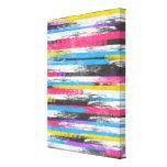 Listras abstratas vibrantes na moda legal da pintu impressão de canvas envolvidas