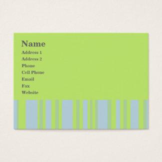 listras amarelas cinzentas verdes cartão de visitas