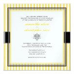 Listras amarelas lisas que wedding convites