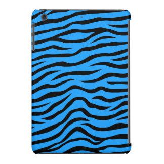 Listras animais da zebra do impressão dos azul-céu capa para iPad mini retina