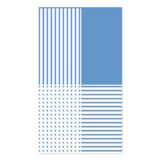 Listras azuis modelos cartão de visita