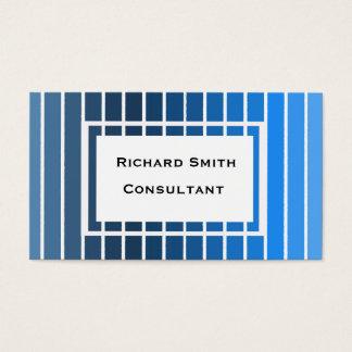 Listras azuis com a caixa de texto branca cartão de visitas