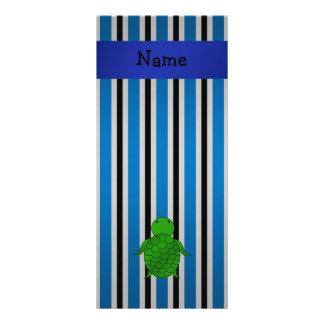 Listras azuis conhecidas personalizadas de tartaru modelo de panfleto informativo