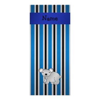 Listras azuis conhecidas personalizadas de urso de modelos de panfletos informativos