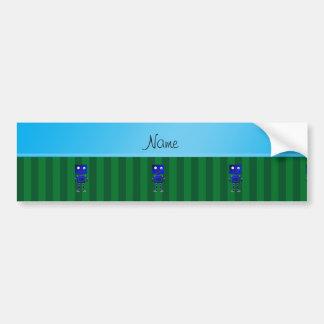 Listras azuis conhecidas personalizadas do verde adesivo