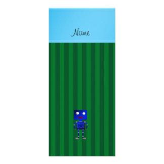 Listras azuis conhecidas personalizadas do verde panfletos informativos personalizados