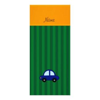 Listras azuis conhecidas personalizadas do verde planfetos informativos coloridos