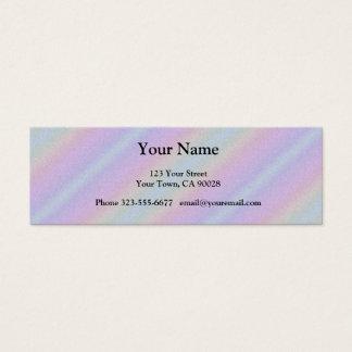 Listras azuis do arco-íris do rosa Pastel Cartão De Visitas Mini