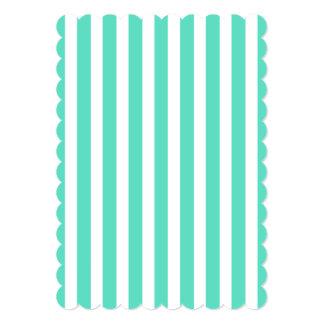 Listras azuis do marinheiro do Aqua de Tiffany Convite 12.7 X 17.78cm