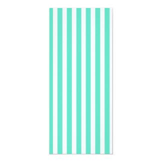 Listras azuis do marinheiro do Aqua de Tiffany Convite 10.16 X 23.49cm