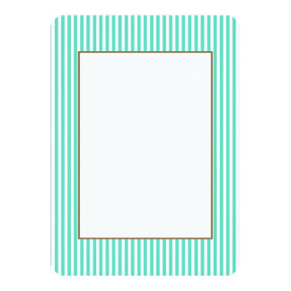Listras azuis do marinheiro do Aqua de Tiffany Convite Personalizado