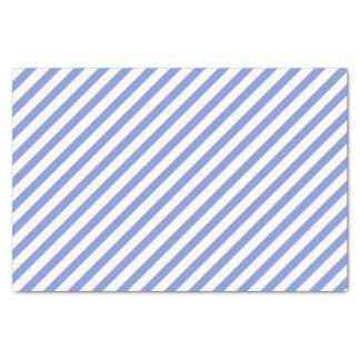 Listras azuis e brancas náuticas - lenço de papel